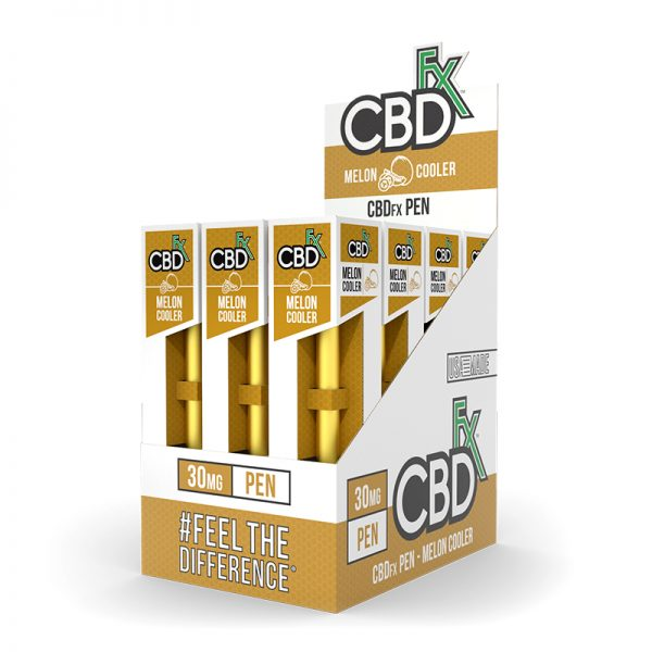 CBDfx-CBD-Pen-Hookah-Vape-Melon-Cooler-12ct-pack-vape-pens-30mg