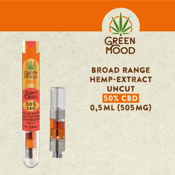Broad-Range-Hemp-Extract-Cartridge-UNCUT-50D-Berry-Diesel-0,5ml-(505mg)-TEXT