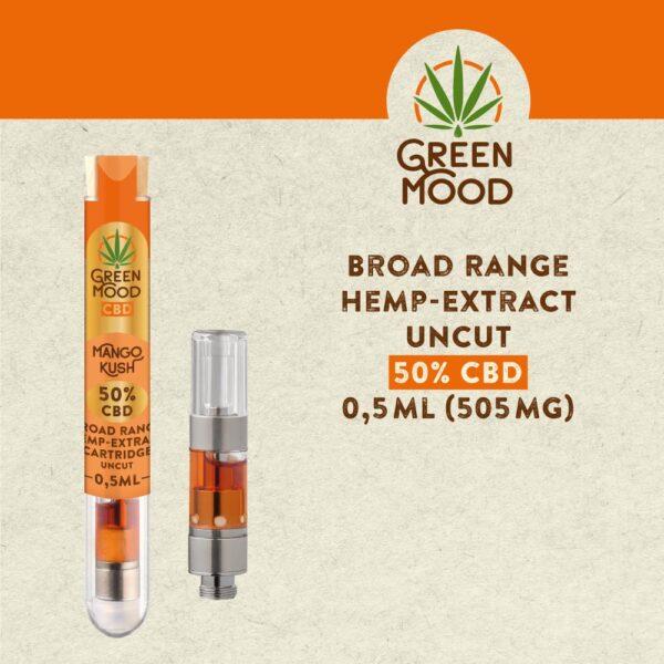 Broad-Range-Hemp-Extract-Cartridge-UNCUT-50D-Mango-Kush-0,5ml-(505mg)-TEXT