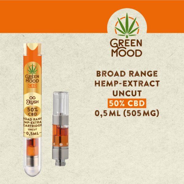 Broad-Range-Hemp-Extract-Cartridge-UNCUT-50D-OG-Kush-0,5ml-(505mg)-TEXT